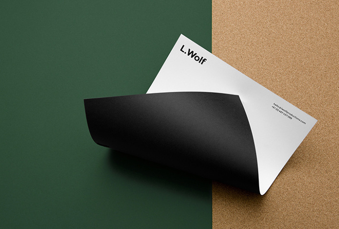 L. Wolf by Mildred & Duck #graphic design #print #letterhead