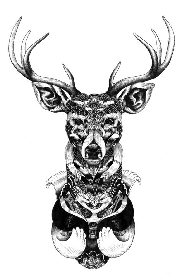 Broutilles Store X Iain Macarthur on Behance #buck #iain #deer #macarthur