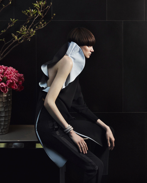 Jessica Pitti by Damian Foxe for How To Spend It #fashion #model #photography #girl