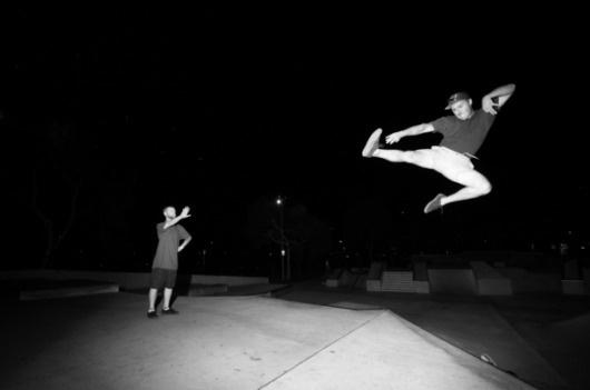 slyAPARTMENT #white #black #night #skate #jump #and