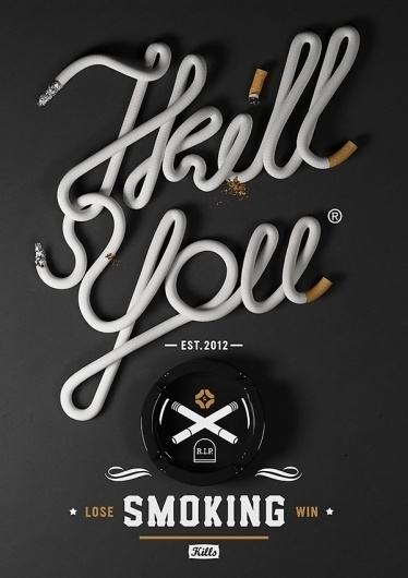 Goverdose 2.0 - I kill you on the Behance Network #typography #michal sycz #goverdose #i kill you