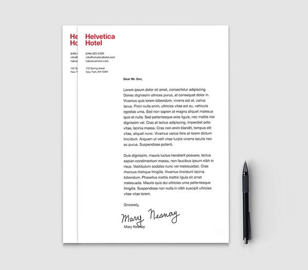 Helvetica hotel #helvetica #letterhead #branding #stationery