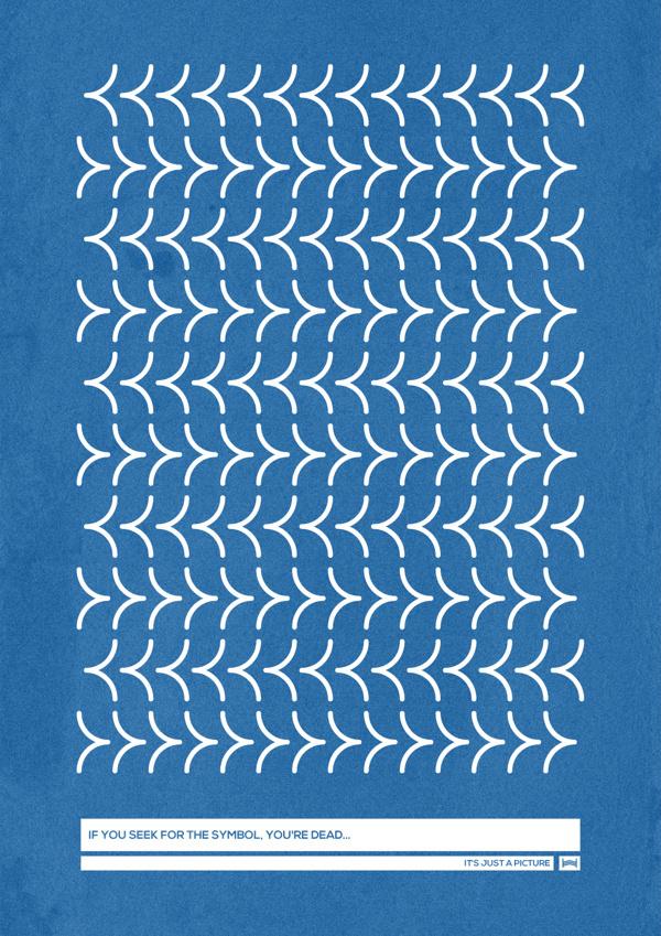 Nonsense Hadrien Degay Delpeuch #nonsense #vector #print #poster #blue #paper