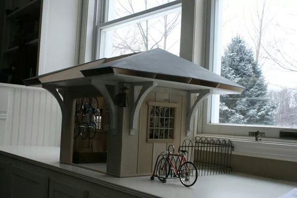 TinyGarage Exterior 0.jpg #workshop #bike #miniature #art