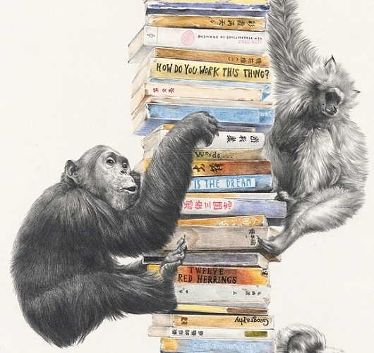 The Fox Is Black » 'Come With Me' – The Unbelievable Drawings of Na Zhao #zhao #na #ilustration #art #monkeys