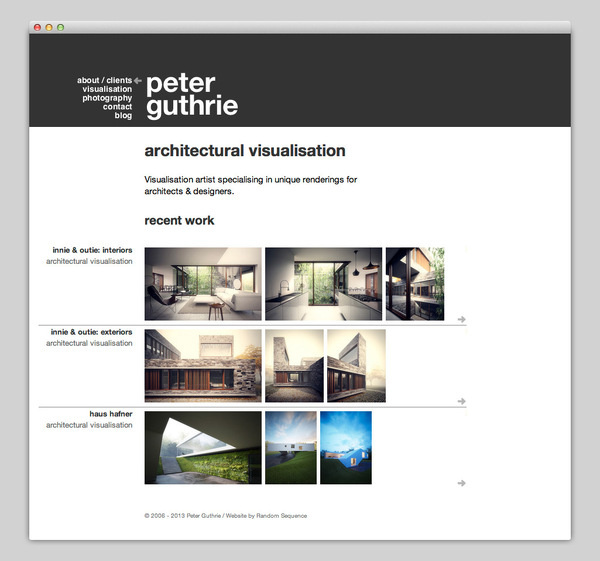 Architectural Visualisation #website #layout #web