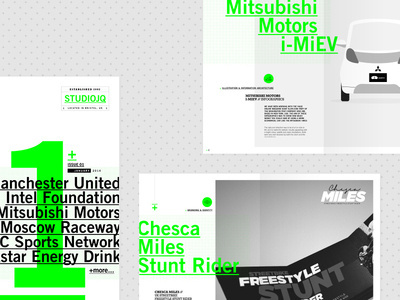 STUDIOJQ 2014 // Branding Deck Layout #green #swiss #branding #print #portfolio #vibrant #newspaper #logo #type #layout #spot #typography