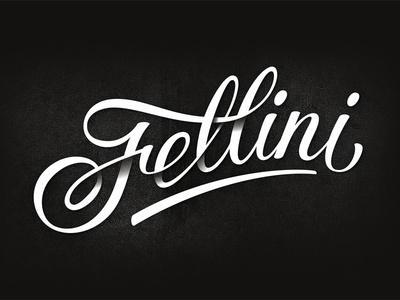 Fellini cafe #lettering #written #type #hand #typography