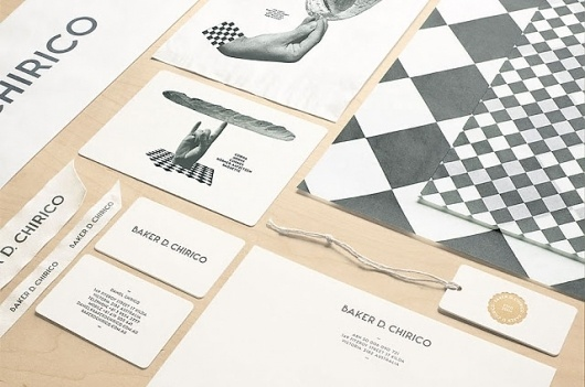 Good design makes me happy: Project Love: Baker D Chirico #white #design #graphic #black #identity #and