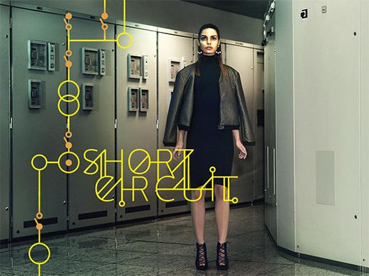 Katachi issue 03 - Gold #model #katachi #ipad #electricity #gold #magazine #typography