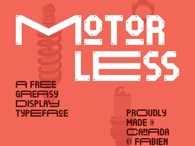 Motorless free Typeface