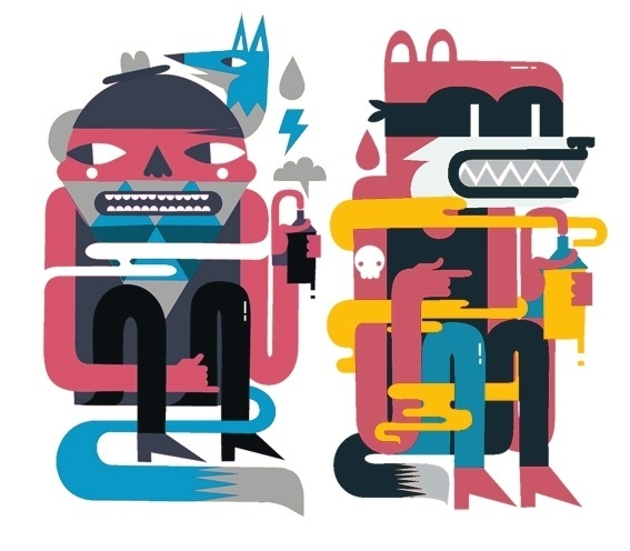 yes on the Behance Network #illustration