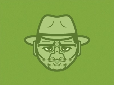 Dribbble - Anything but Snakes by Chris Gerringer #bright #vector #minimal #face #character