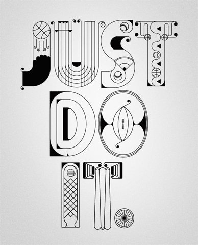 FFFFOUND! | NIKE x Type illustrations 2010 on the Behance Network #type #lettering