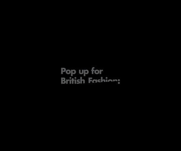 Pop up for British Fashion #type #logo