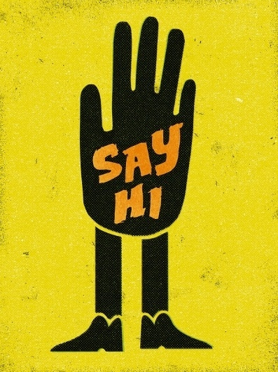 Say Hi. Art Print | Society6 #print #design #retro #illustration #art #poster #typography