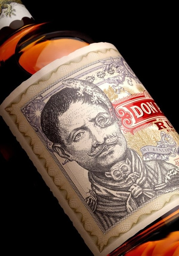 Graphic ExchanGE a selection of graphic projects #strangerstranger #rum #label #moustache