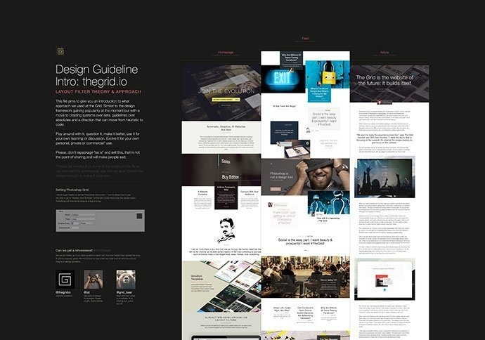The Grid: Website PSD Template