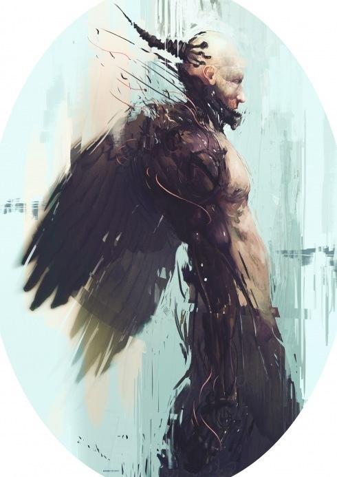 supersonic electronic / art - Bradley Wright. #wright #angel #demon #bradley #painterly