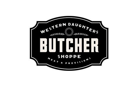 Western Daughters Butcher Shoppe Logo Design #logo #design