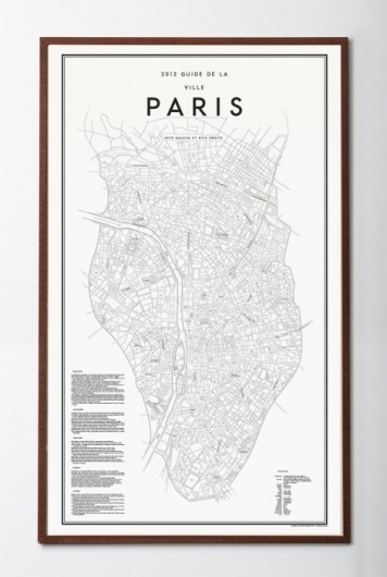 David Ehrenstråhle 2012 Guide de la ville paris | Details | Artilleriet #poster #paris #map