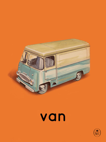 van Art Print by Ladybird Books Easyart.com #vintage #artprints #print #design #retro #art #bookcover