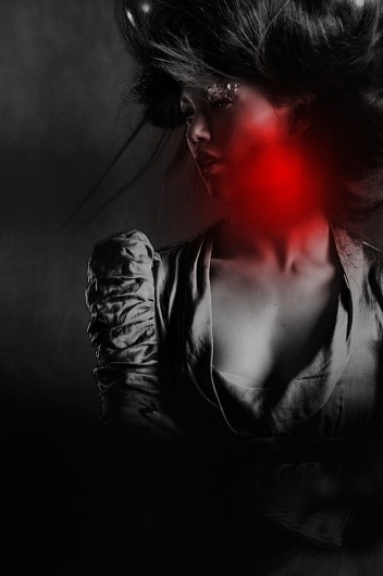 HELIUM on the Behance Network #red #white #photo #black #women #portrait #and #female