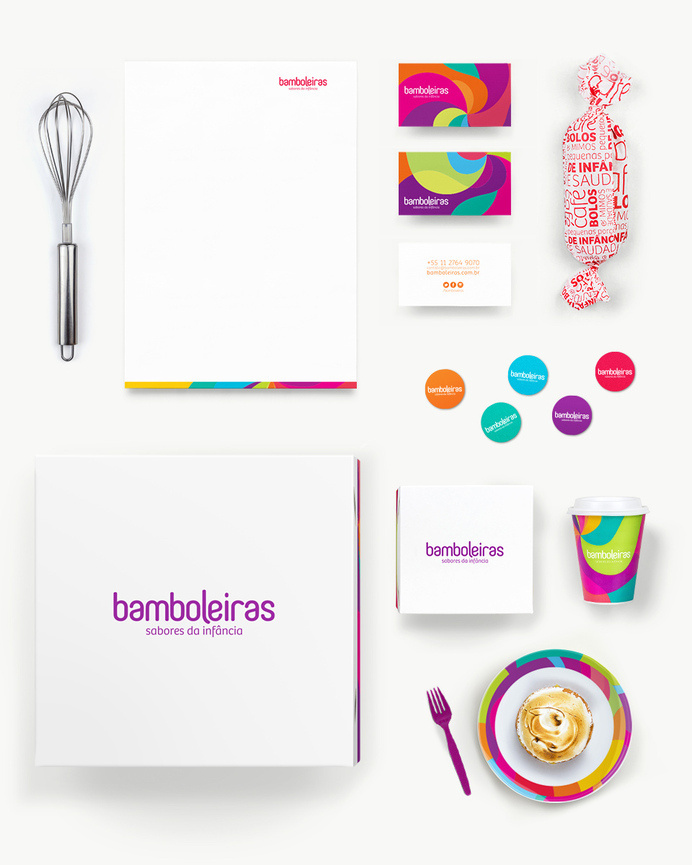 Identidade #young #branding #packaging #colorful #brasil #dish #paper #cake #bakery #baker #buisess #design #brand #purple #stationery #sao #logo #logotype #box #megalodesign #megalo #brazil #cup #package #paulo #card