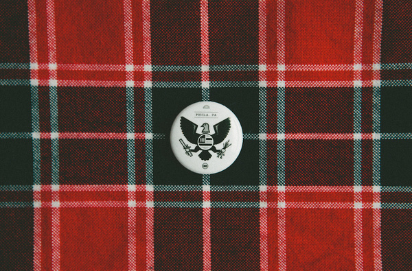 Eagle_Button_MS187 #white #button #design #plaid #black #pin #eagle #and #flannel
