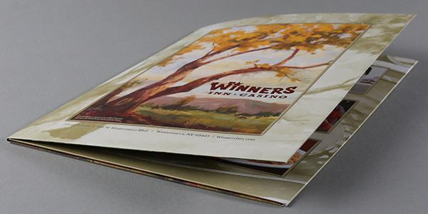 Winners Inn Casino Tri-Panel Folder Design #folders #presentation #corporate #identity #stationery #folder