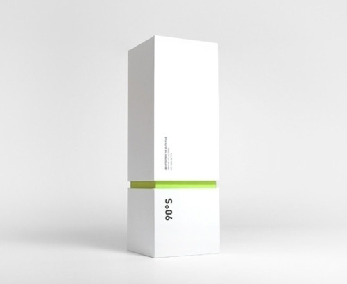 Modern Packaging Design A minimalistic and modern... | WE AND THE COLOR - A Blog for Graphic Design and Art Inspiration #minimalistic #cloud #90 #design #south #inc #degrees #absinthe #package