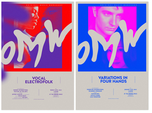 OMW on Behance #color #poster