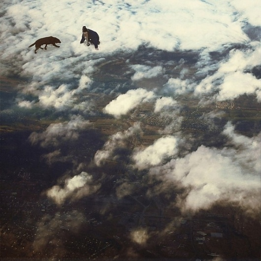 Colossal | art + design #clouds #cloud #sky #land #snow #flying #photography