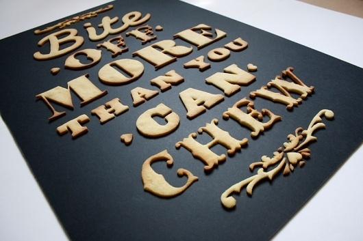 Edible poster #cookie #poster #typography