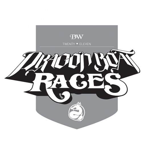 Duncan-Williams Dragon Boat Races Logo on the Behance Network #dragon #type #drawn #logo #hand #typography