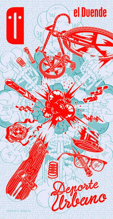 Designersgotoheaven.com El Duende Magazineby VCM. #illustration #explosion #poster