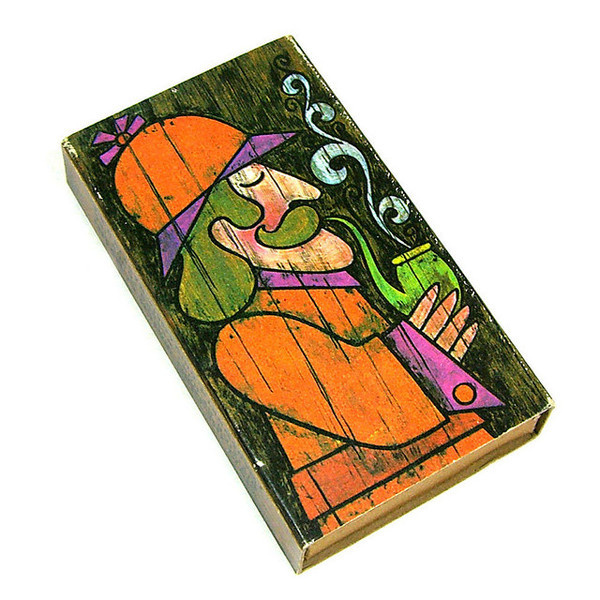 1970s Sherlock Holmes matchbox #matchbox #sherlock #illustration #holmes