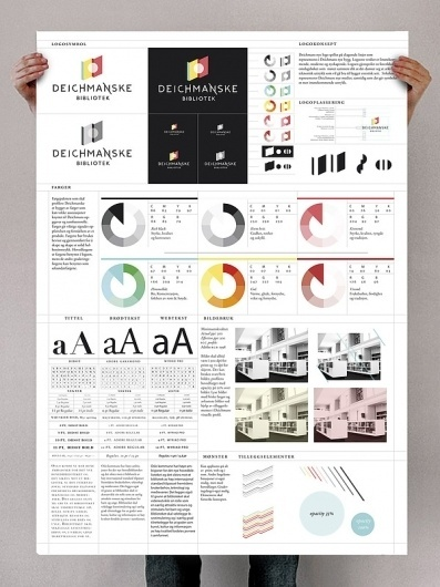 Deichmanske Library on the Behance Network #allen #infographics #larsen #kristian #identity #manual #poster