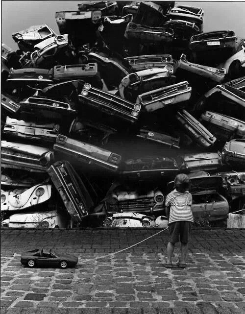 Lucien Wijckmans #junk #child #cars #photography #toy