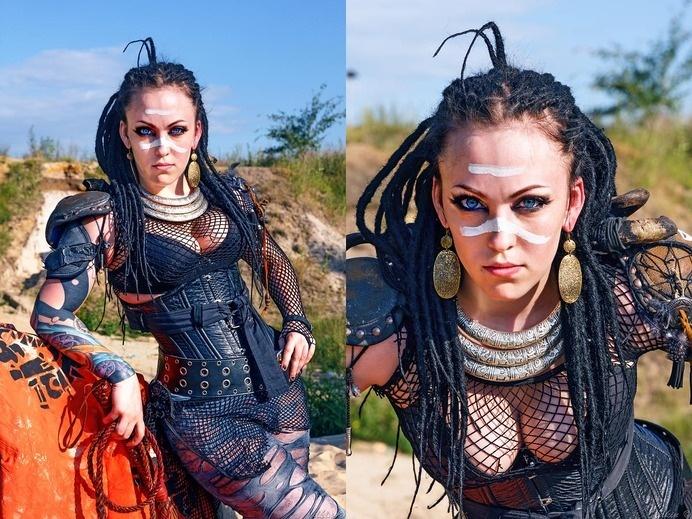 Another raider. by MariaCalavera on deviantART #girl #wasteland #raider