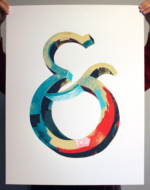 Typeverything.com - Ampersand screen print. Available at http://darrenbooth.com/shop/ #ambersand