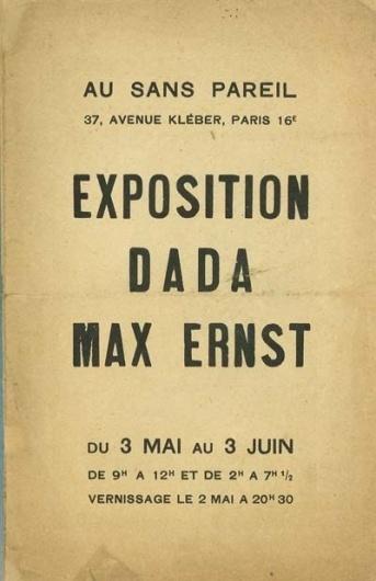 Exposition Dada Max Ernst #dada #art