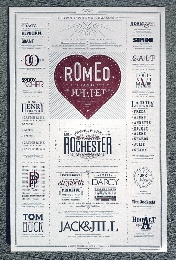 FPO: Typographic Matchmaking Poster #matchmaking #letterpress #love #typography