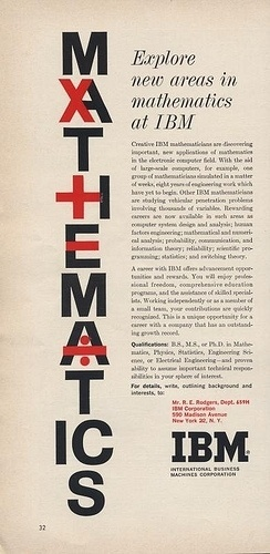 All sizes | IBM Ad | Flickr - Photo Sharing! #tech #ads #design #graphic #science