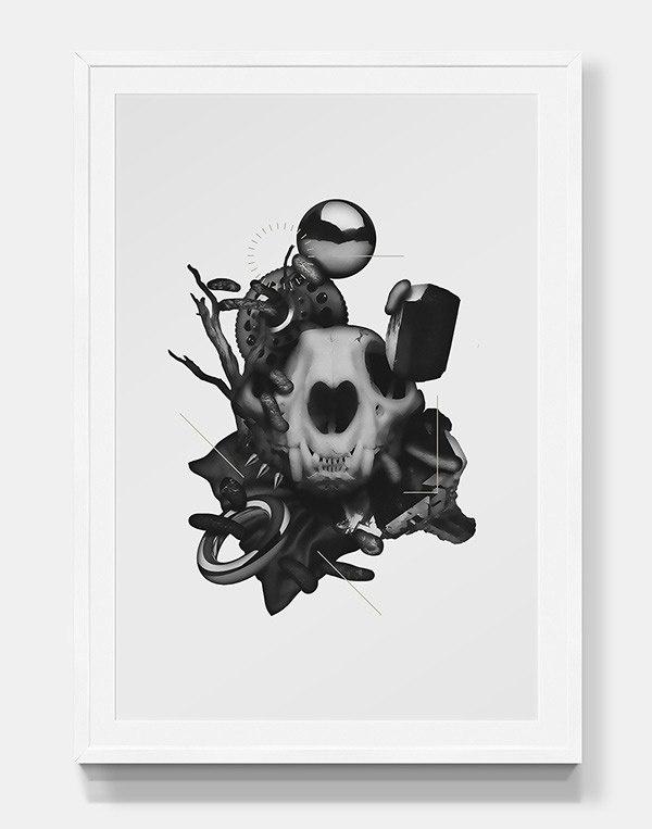 Parallel darkness #poster #illustration #dark #design #collage