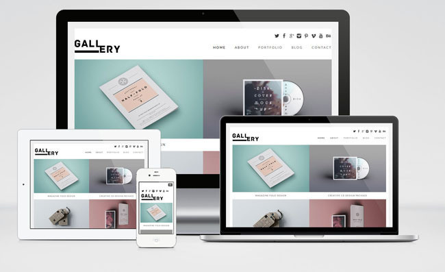 Gallery Free Portfolio WordPress Theme