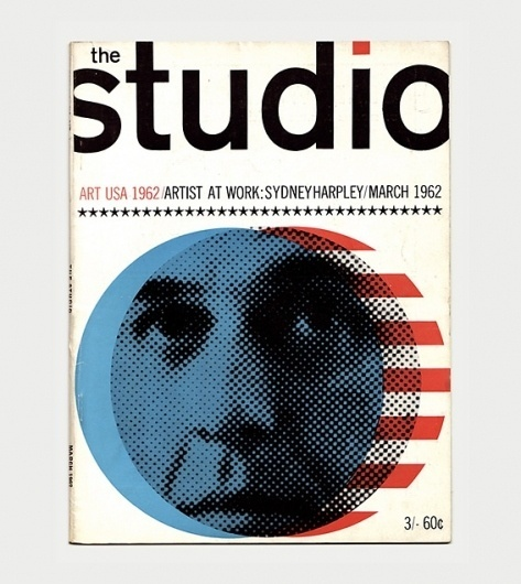 The Studio Magazine Covers, 1960s / Aqua-Velvet #cover #halftone #magazine