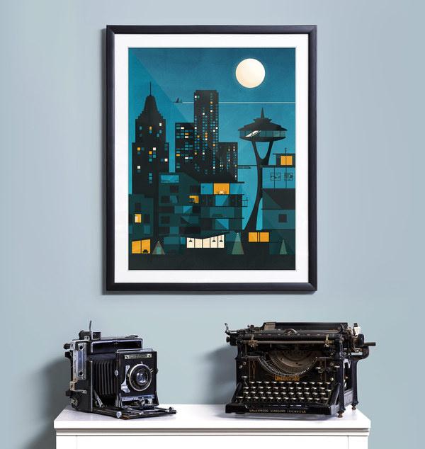 The Night Sky #flat #vector #print #design #color #screen #illustration