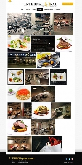 International restaurant on the Behance Network #international #food #restaurant #website #web