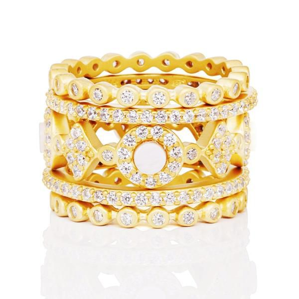 Signature 5-Stack Ring – Freida Rothman | Price: $285.00 | Product details @ https://bit.ly/2maMOd4. Buy now! #Rings #Jewelry #Fashion #FreidaRothman #NYC #NewYork #Brooklyn
